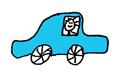 autootje blauw