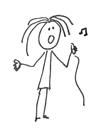zingend meisje